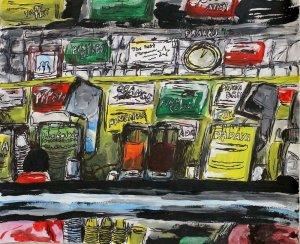 New York Juice Shop by Lauren Vaccaro